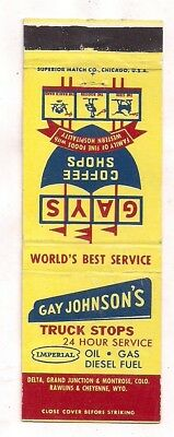 Gay Johnson's Truck Stops, Delta, Grand Jct, Montrose CO Rawlins, Cheyenne WY MB