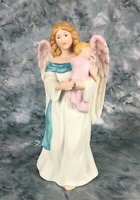 """Angel With Baby """"Heaven's Treasure """" By Homo Home Interiors #1434"""