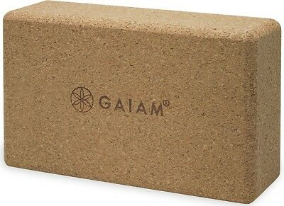 Gaiam Cork Yoga Block, Brown