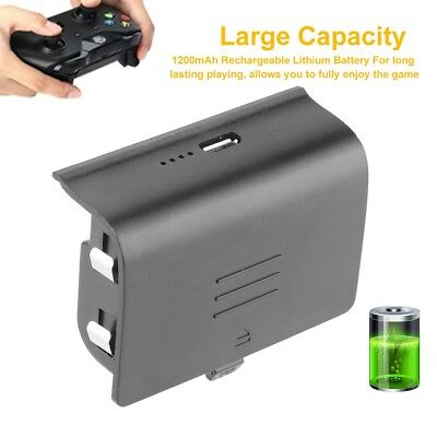 1600/1200 mAh Rechargeable Battery Pack + Charging Cable for Xbox One Controller