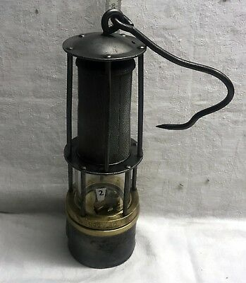 N°002  Wetterlampe Grubenlampe Brass Miners Safety Lamp Old Miners Lamps