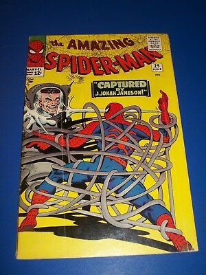 Amazing Spider-man #25 Silver Age 1st Mary Jane Huge Key 1st Smythe Wow Solid VG