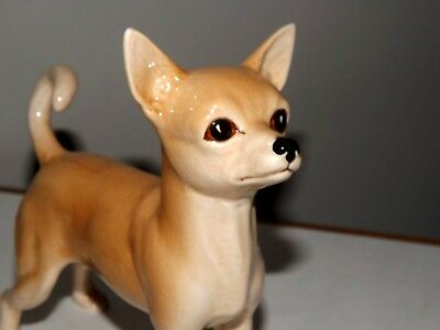 """Vintage Porcelain Chihuahua Dog Figurine Made In England #5319 6"""" Tall"""