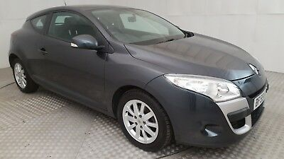 2009 Renault Megane Expression Vvt 110 Grey 1.6 Petrol 6 Speed Manual Coupe