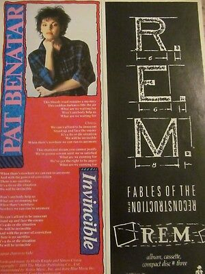 R.E.M, Fables of the Reconstruction, Vintage Promotional Ad