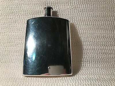 S.t. Dupont Silver Plated Vintage Hip Flask  Paris France   6 Oz--Very Nice