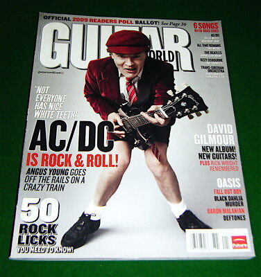 AC/DC Angus Young, David Gilmour, 50 Rock Licks, 2009 Guitar World: EXC. COND'n