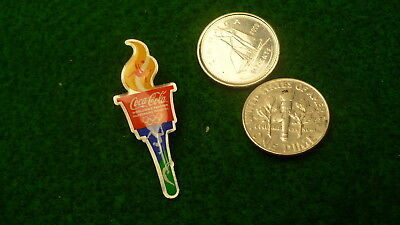 Olympic relay torch coke coca cola winter games lapel pin #55