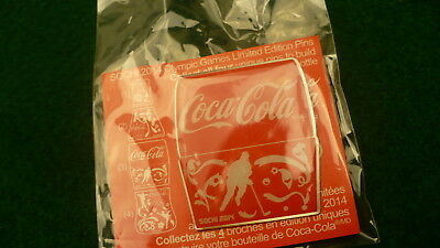 2014 Sochi Olympic games Coca Cola puzzle pin part 3  bottle #9