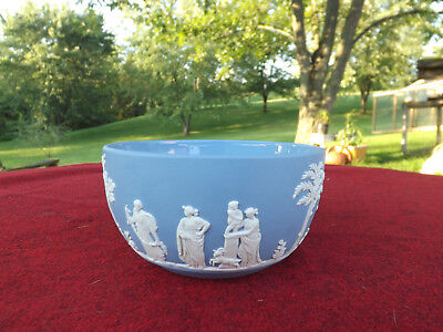 Vintage Blue Jasperware Wedgwood Bowl 4 3/4""