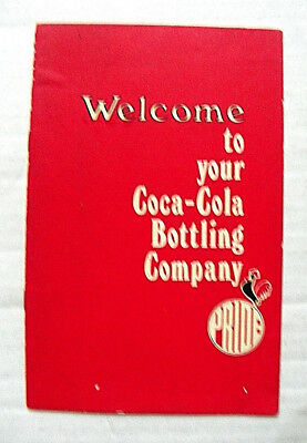 """1960's """"SELL COCA-COLA ~ WELCOME TO YOUR COCA-COLA BOTTLING COMPANY"""" BOOKLET"""