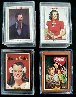 Coca Cola Series 1,2,3,4 - 400 Collection Card Set  -  Mint in New Acrylic Boxes