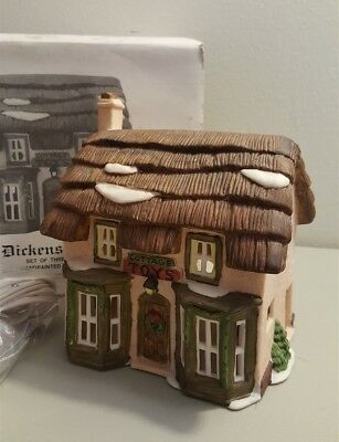 Dept 56 Dickens Village COTTAGE TOYS, One Of The Dickens' Lane Shops 65072 RET