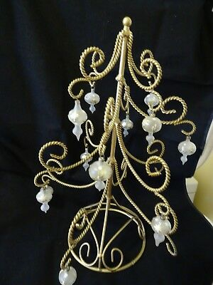 Vintage ornament display stands lot of 9 hallmark lefton vintage ornament tree gold metal display stand w vintage glass ornaments excell m4hsunfo