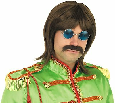 Mens 60s Pop Wig Accessory For Sgt. Pepper Fancy Dress Adults Male