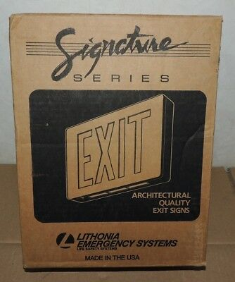 Lithonia Exit Sign Architectural Quality New Green Letter Emergency Systems
