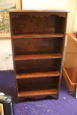 Book Shelf Bookcase Pine Stained Mahogany Vintage Antique