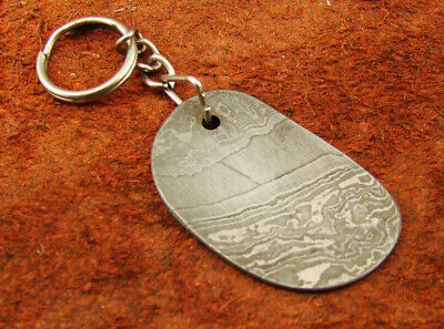 100% Authentic Damascus Steel Cross Key Chain, Cross Charm, Cross Key Ring Gift