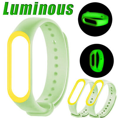 Luminous Silicon Wrist Strap Sport Watch Band Replacement For XIAOMI MI Band 3