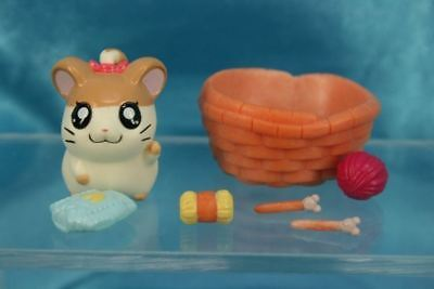 Epoch Tottoko Hamtaro Characters Pencil Toppers Mini Figure Set Barrette