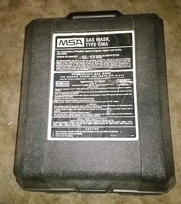 MSA Industrial Gas Mask, Case and 2 canisters