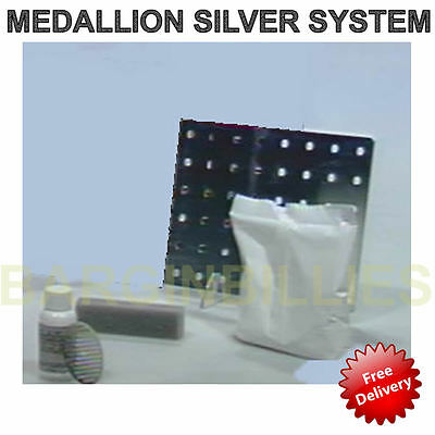 NEW Medallion Silver System Tarnish Magnet plating & cleaning Solution Plate Kit