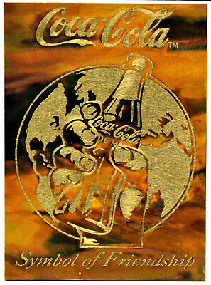 "Coca Cola 1994 Brass Etched Card -Series 3 ""Symbol of Friendship"" Case Card  LMT"
