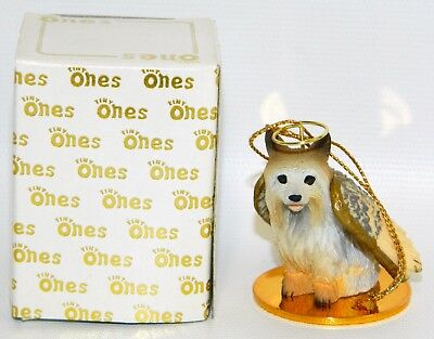"Silky Terrier Dog Figurine Ornament Angel Miniature 2"" Tiny Ones 1996"
