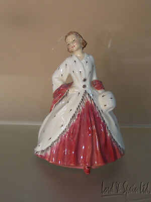 "Royal Doulton THE ERMINE COAT 6 3/4"" Lady Figurine- HN1981; Copr 1945"