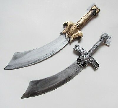 Pirate Plastic Realistic Cosplay Costume Gold Base , Silver Base Sword NEW