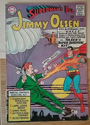DC Silver Age Comic SUPERMAN'S PAL JIMMY OLSEN 89 (1965) £4.99 Post Free UK