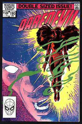 Daredevil #190. Elektra Returns From The Dead! White Pages, Glossy Bright Cover!