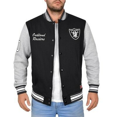 NFL Oakland Raiders Herren Winter College Jacke Letterman Jacket Men schwarz NEU