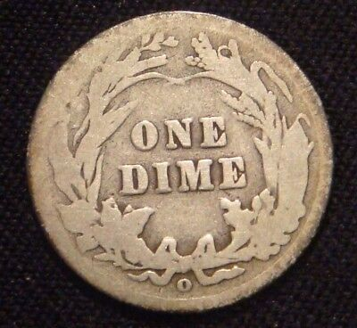 1905-o MICRO O Barber Dime  G+  Key Date Variety Coin  NO RESERVE AUCTION