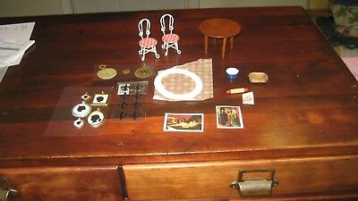 Lot  Of   17  Pieces  Doll House Miniatures  Have More And Will Combine Shipping
