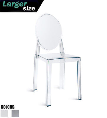 Modern Transparent Plastic Side Accent Dining Arm Chair Acrylic With Back
