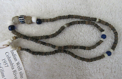 Very Nice Strand Of Old Columbia River Trade Beads--Nr!