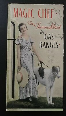 VINTAGE MAGIC CHEF COLOR BROCHURE THE THOROUGHBRED IN GAS RANGES Tri-Fold