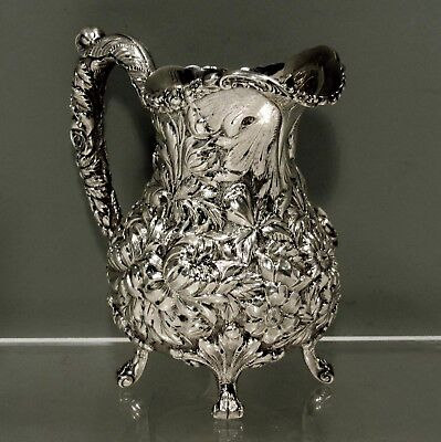 "Stieff Sterling Silver Pitcher         1928    "" HAND CHASED """