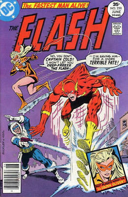 FLASH #250 F, 1st GOLDEN GLIDER, CAPTAIN COLD app., DC Comics 1977 Stock Image