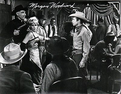 """OFFICIAL WEBSITE Morgan Woodward """"Gunpoint"""" (1965) 8x10 AUTOGRAPHED"""