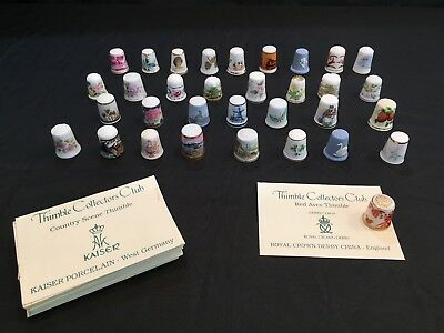 HUGE Lot of 128 Collector/Souvenir Sewing Thimbles - Nice Collection!