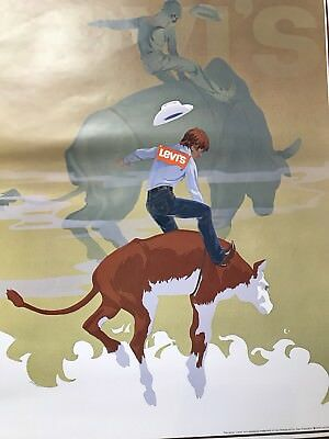 Vintage 1978 Levi's Strauss Jeans Advertising Poster
