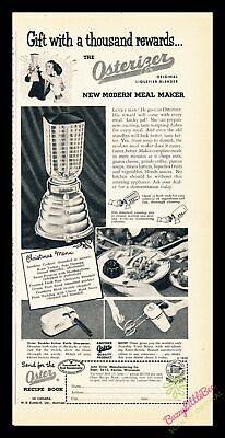 Print Ad~Vintage~1953~Osterizer~Oster~Blender~Black and White~I100