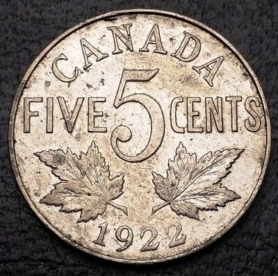 1922 Canada 5 Cents Nickel Coin ***Great Condition***