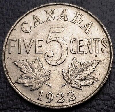 1922 Canada 5 Cents Nickel Coin ***Great Condition*** Free Combined Shipping
