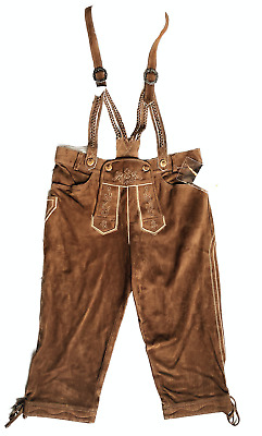 Winklbauer Heinz Goat Suede Leather Costumeleather Pants Knee Breeches Brown