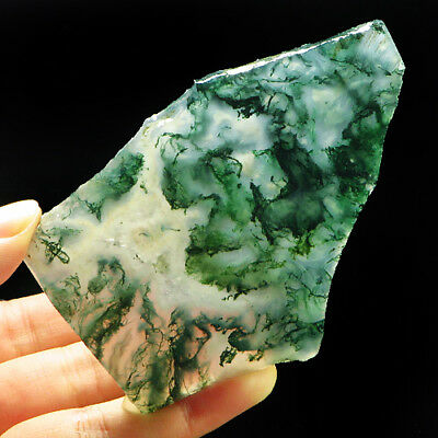 234.5Ct 100% Natural Green Dentritic Moss Agate Facet Rough Specimen YAD1256