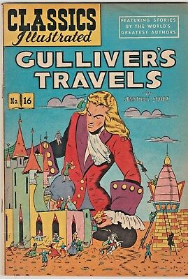 CLASSICS ILLUSTRATED: GULLIVER'S TRAVELS #16 HRN62 Rare priceless cover.