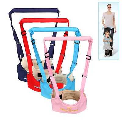 Adjustable Handheld Baby Walker Helper Toddler Safe Walking Padded Belt Harness